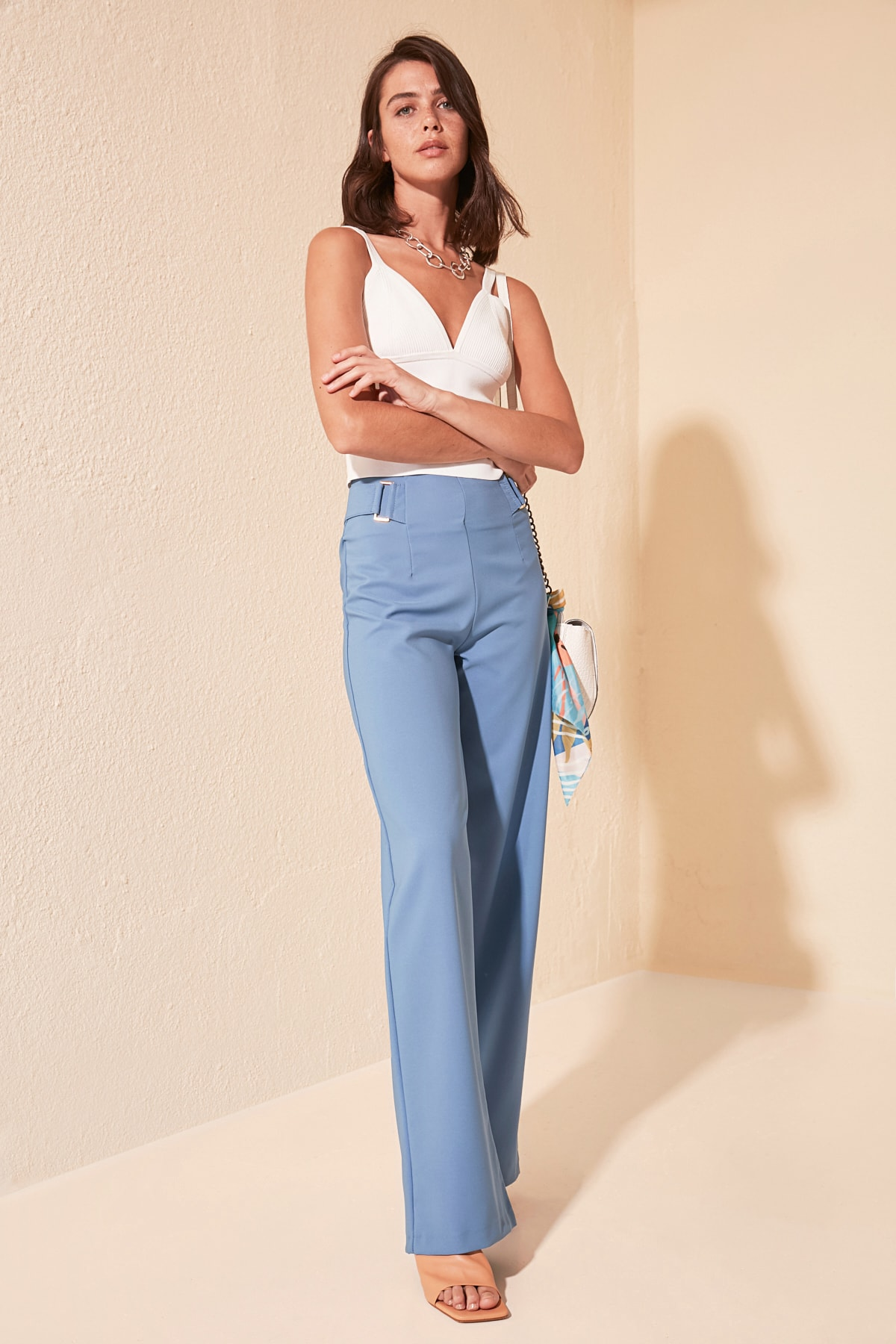 Trendyol Flare Pants TWOSS20PL0294
