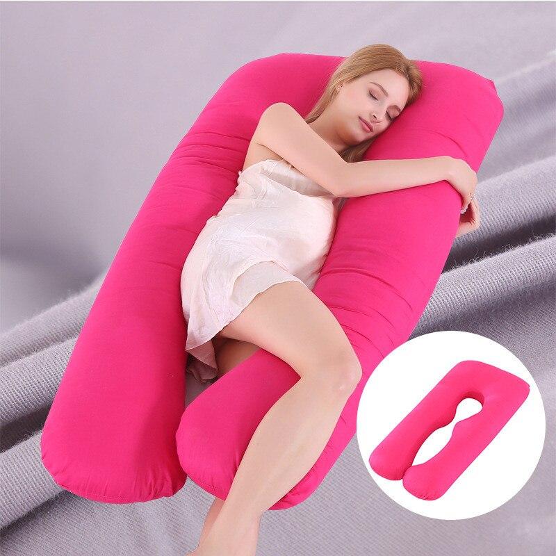 Hot Sales Pregnant Women Sleeping Support Pillow Cotton Pillowcase U Shape Maternity Pillows Pregnancy Side Sleeper Bedding