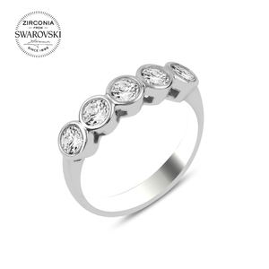 Silver 925 Sterling Swarovski Zirconia Gemstone Dibs Ring()