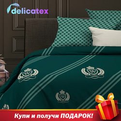 Set Tempat Tidur Delicatex 15158-1 + 15161-2Gallant Home Tekstil Seprai Linen Bantalan Cover Duvet Cover Рillowcase