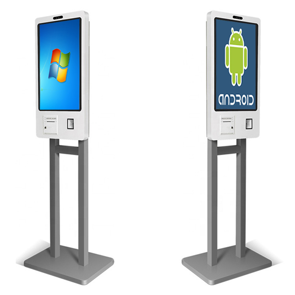 24 Inch Free Standing Self Service Ordering KIOSK (Android Or Windows, Printer/barcode Reader Included, Card Slot Optional)