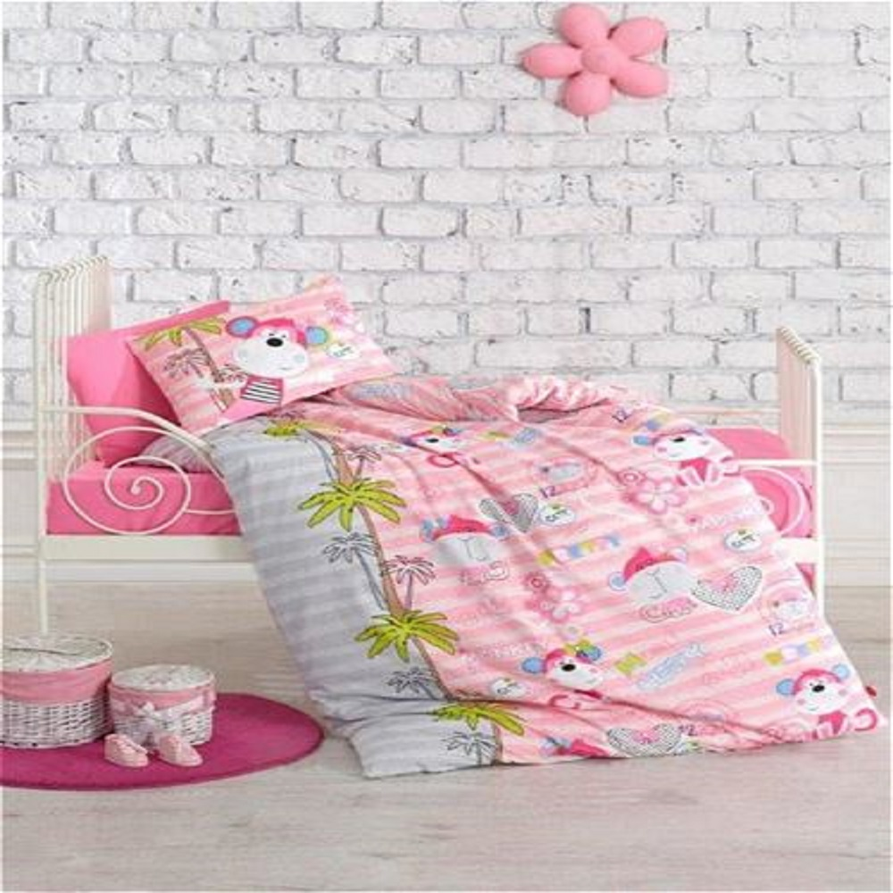 Made In Turkey MONKEY Baby Bedding Duvet Cover Set Crib For Boy Girl Cartoon Animal Baby Cot Cotton Soft Antiallergic