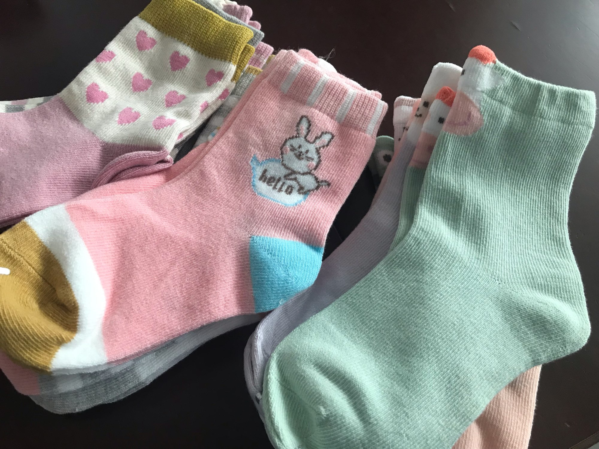 5 Pairs/lot Cute Cartoon Baby Girls Socks Winter Thicken Soft Kawaii Infant Toddler Socks Cotton Baby Boy Sports Socks for 1-12Y photo review
