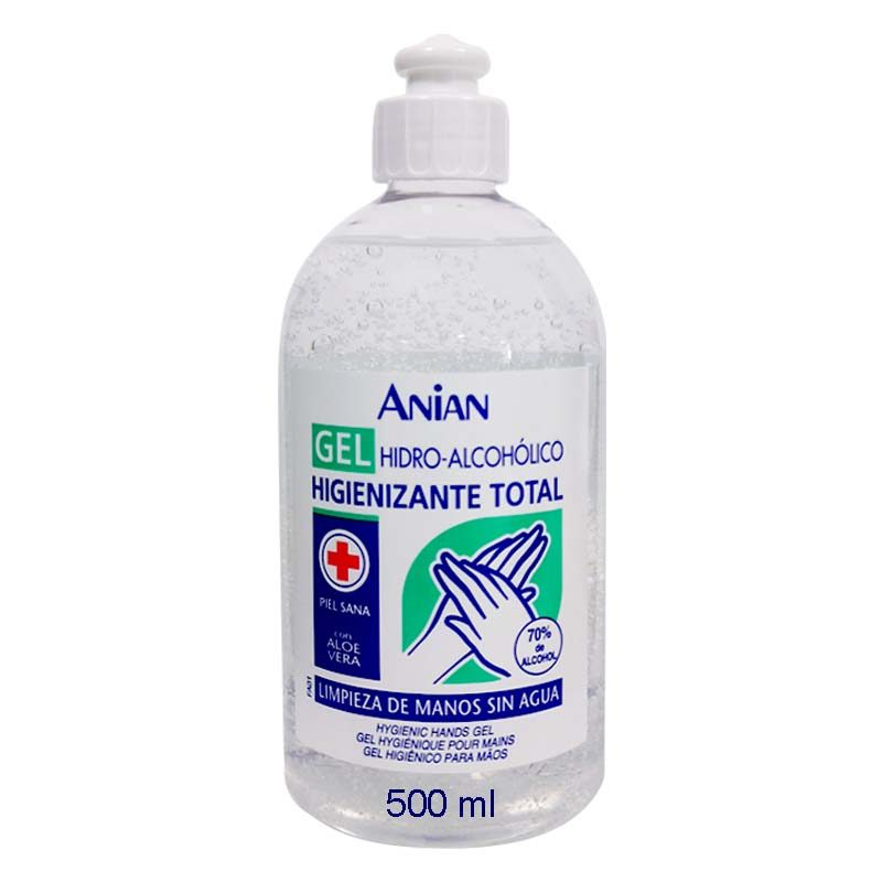 Hydro Gel-Alcoholic Sanitizing Outright Anian 500 Ml With Aloe Vera