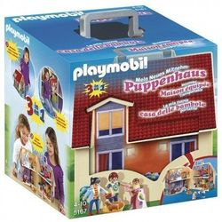 Playmobil-dollhouse shaped briefcase, game set