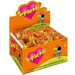 Жевательная резинка LOVE IS ананас оранжевый подарок на день Святого Валентина 1 коробка