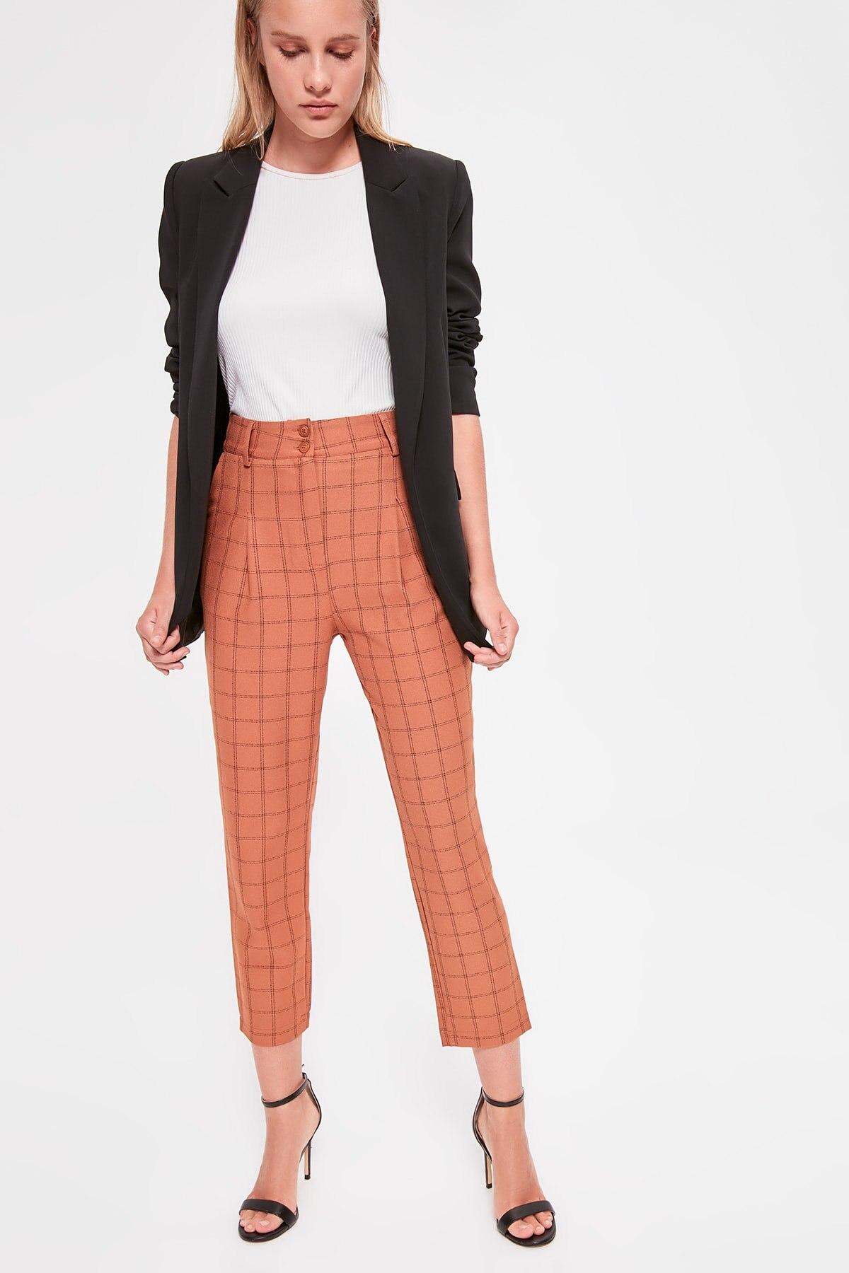 Trendyol Plaids Pants TWOAW20PL0492