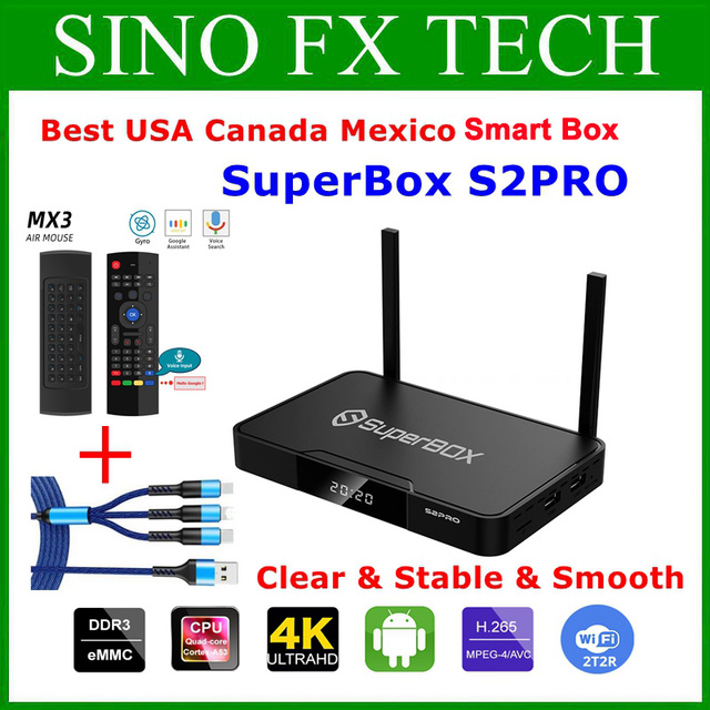 [Genuine] Superbox S2 Pro the best English Android 9.0 smart box 2GB+16GB hot sell in USA Canada Mexico Europe Superbox S1PRO