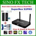 [Подлинный] Superbox S2 Pro лучший английский Android 9,0 смарт-бокс 2 ГБ + 16 Гб Лидер продаж в США Канаде Мексике Европе Superbox S1PRO