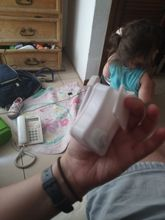 Excellent I liked it and it worked very practical, it is small white where the batteries g