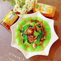 快手鲜美的素菜——鸡汁香菇青菜+太太乐鲜鸡汁芝麻香油的做法图解13