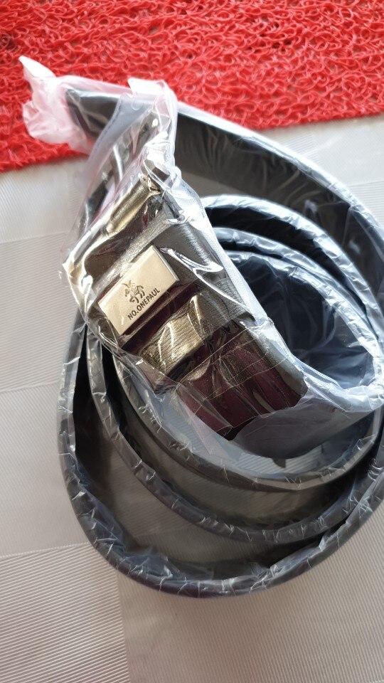 Ceinture cuir véritable avec boucle métal pour homme