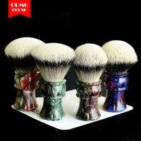 OUMO BRUSH 2019/9/17 TITAN Art shaving brush with SHD HMW silvertip Manchuria finest 2 band gel city 30MM
