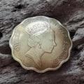 Кончо Елизавета КМ16. Диаметр 23мм. Кончо из настоящей монеты.