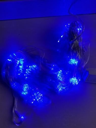 Fios de LED Cortina Decoração Casamento