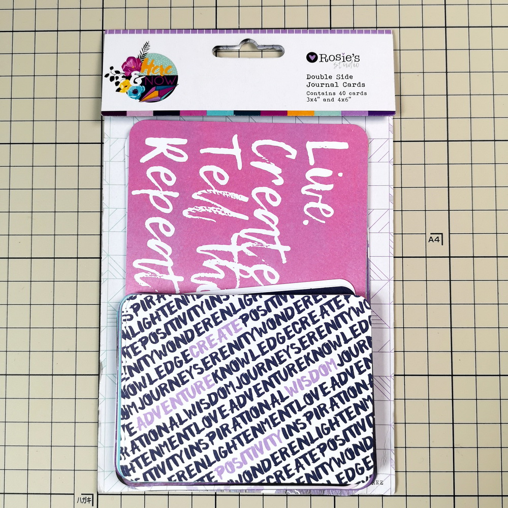 CRZCrafter Cardboard Journaling Cards Double Sided Printing Scrapbooking Project Album Journal Cards Embellishments