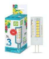 LED lamp LED JC standard 3 W 12 V G4 4000 270Лм ASD