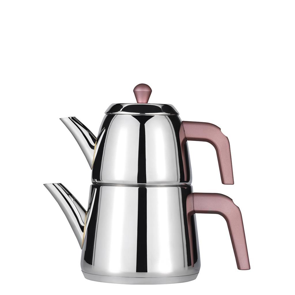 Amboss Diamond Teapot , Stainless Steel , For All Furnace Types, 1,2 lt Teapot , 1,5 L Water Boiler