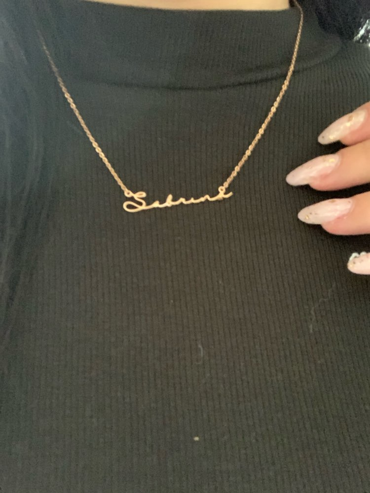 Personalized Signature Name Necklace photo review