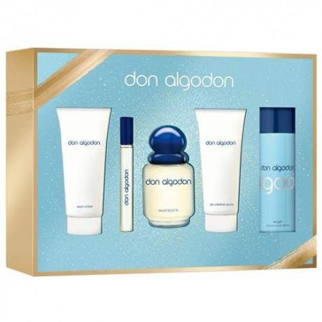 DON ALGODON WOMAN EDT 100ML + + MINI EDT BODY LOTION + SHOWER GEL + DESODORANTE