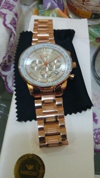 Relógios de quartzo homens Relógio nibosi