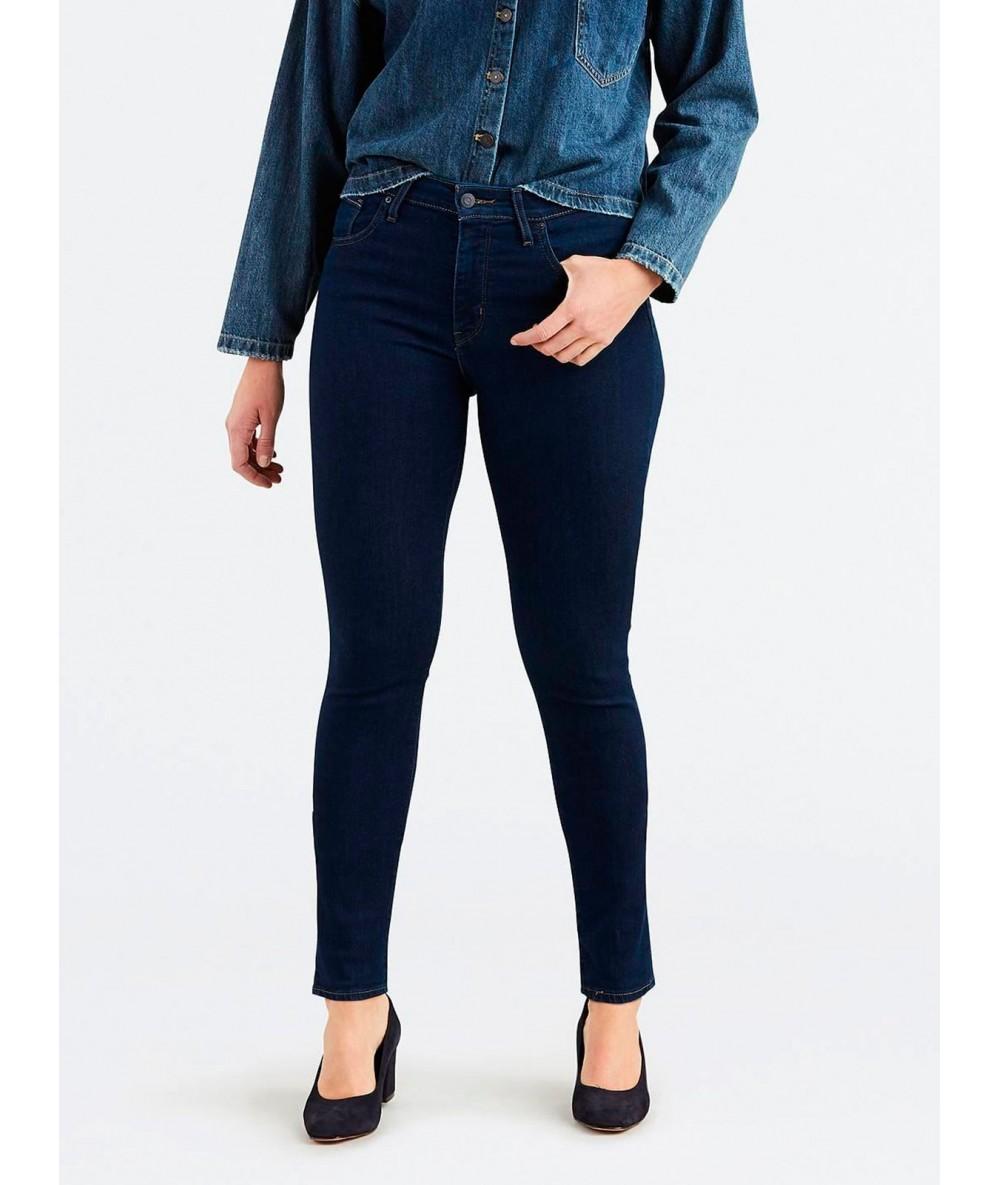 COWBOY LEVI'S HIGH RISE SKINNY LONE Woman pants dark color blue pants levis Women's trousers woman Vogue trousers