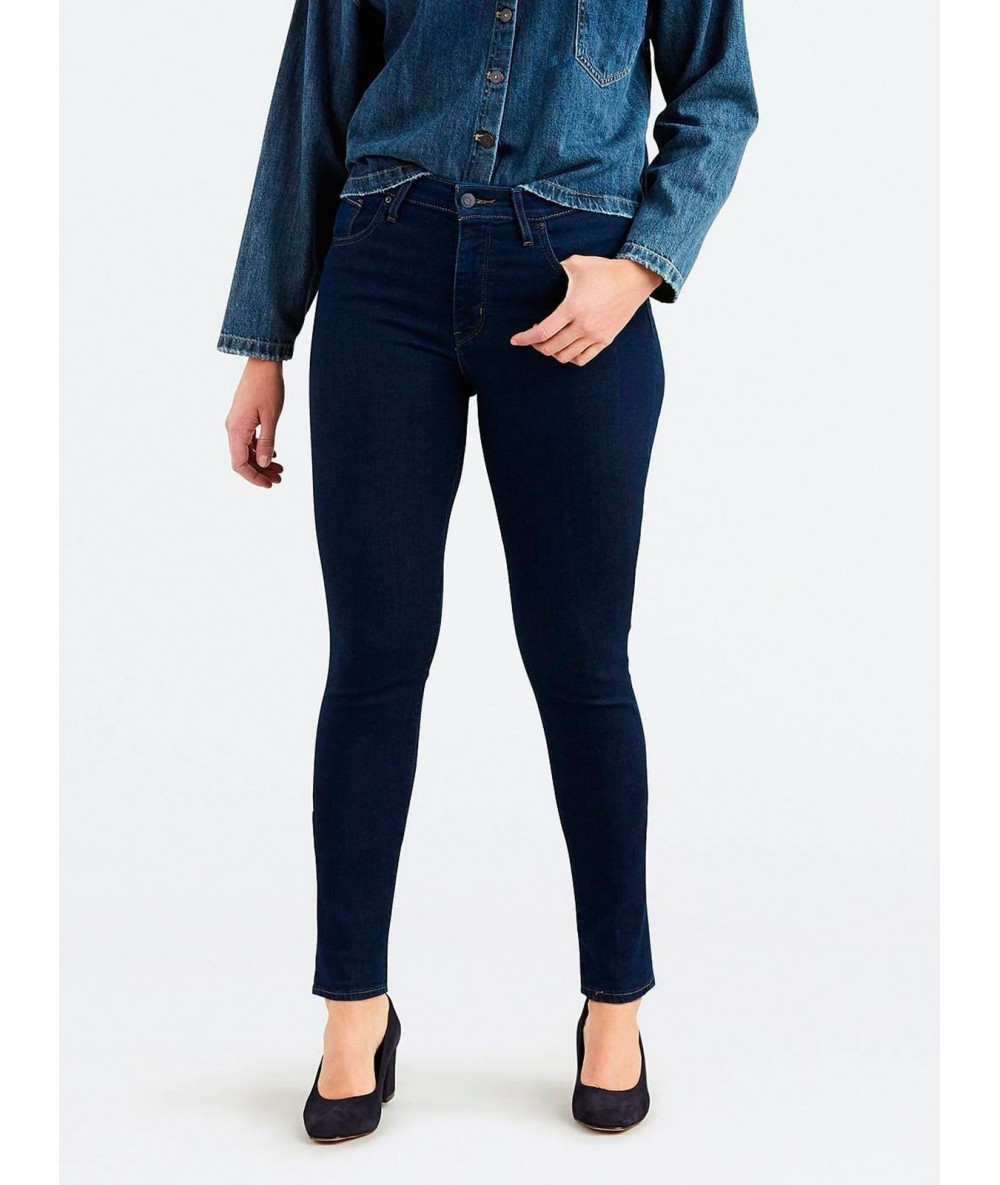 COWBOY LEVI'S HIGH RISE SKINNY LONE Woman Pants Dark Color Blue Pants Levis Women's Trousers Woman Vogue Trousers
