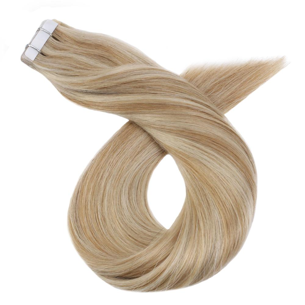 Real Human Hair Tape Ins Silky Straight 12-24'' Machine Remy Brazilian Hair 20P/40P Glue Tape On Extensions