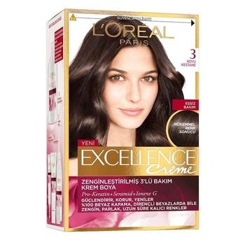 Loreal Excellence farba do włosów 3 numer ciemny kasztan 247226820 tanie i dobre opinie