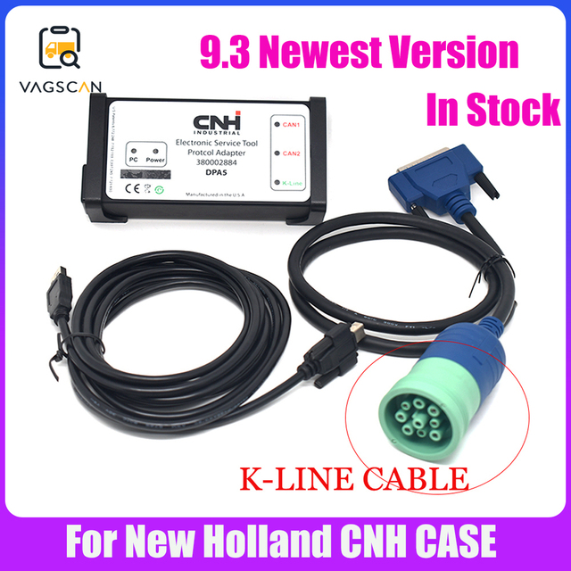 Agriculture Diagnostic  for New Holland Electronic Service Tools K LINE Cable (CNH EST 9.3 Engineering Level)+Activator+unexpire