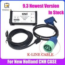 Cable de diagnóstico de Agricultura para nuevo herramientas de servicio electrónico Holland, activador y sin caducidad, Cable de K LINE (sotfware CNH EST nivel de ingeniería 9,3)