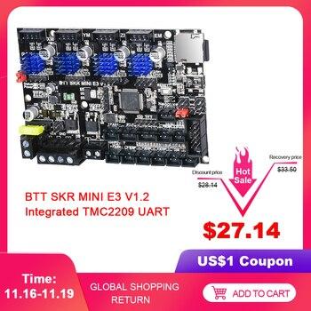 BIGTREETECH SKR MINI E3 V1.2 плата управления 32 бит интегрированный TMC2209 UART 4 шт. драйверы для Ender 3 Pro панель части 3d принтера