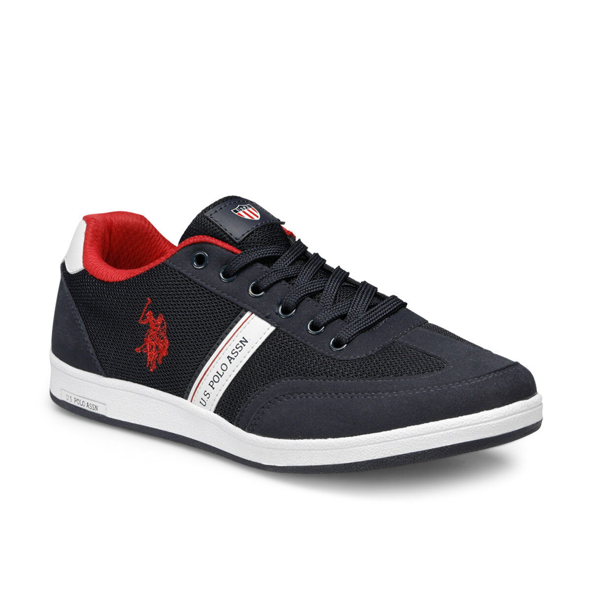 FLO Navy Blue Men Sneaker Shoes 2020 New Casual Shoes Men Leather Flat Shoes Lace-up Low Top Sneakers Shoes Men Tenis Masculino U.S. POLO ASSN. KARES