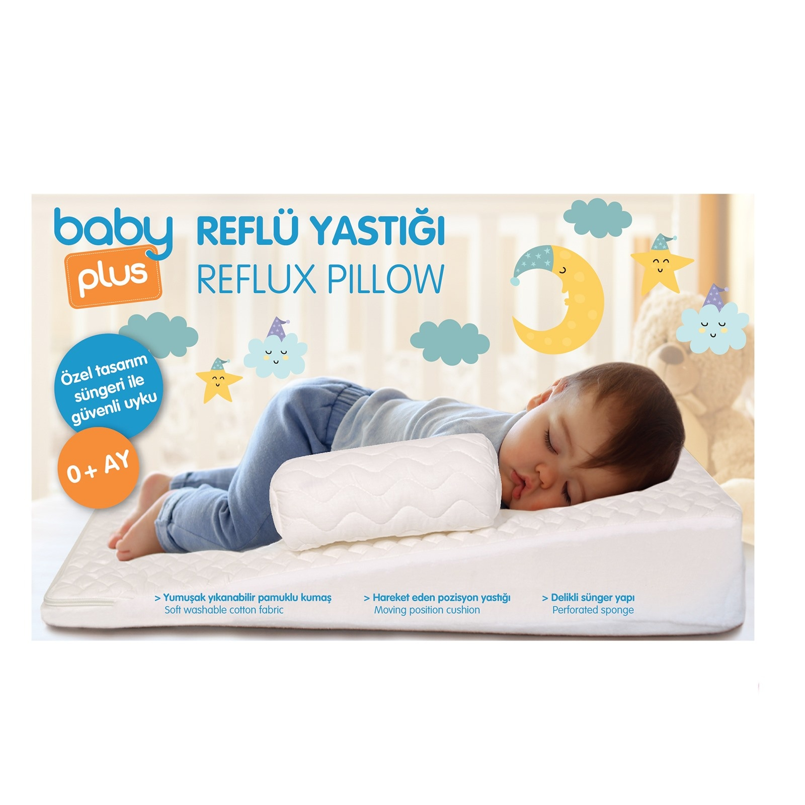 Ebebek Baby Plus Reflux Baby Wedge Pillow