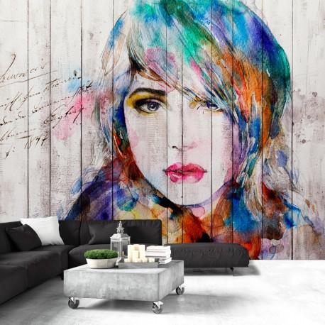 Photo Wallpaper Portrait Wood