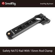 SmallRig Safety NATO Rail (4) with 15mm Rod Clamp For Nato Handle EVF Mount Support  1910