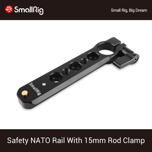 Image 1 - SmallRig Safety NATO Rail (4) with 15mm Rod Clamp For Nato Handle EVF Mount Support  1910