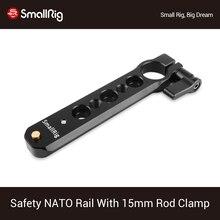 Smallrig Veiligheid Nato Rail (4 ) met 15 Mm Rod Clamp Voor Nato Handvat Evf Mount Ondersteuning 1910