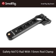 Trilho da otan da segurança de smallrig (4 ) com braçadeira da haste de 15mm para o apoio evf da montagem do punho da otan 1910
