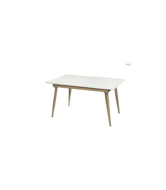 Table Boston Rectangular Extendable Matte White