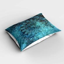 Fundas de almohada modernas rectangulares Vintage auténticas otomanas verdes y negras fundas de almohada de estampado digital 3d fundas para sofá cama