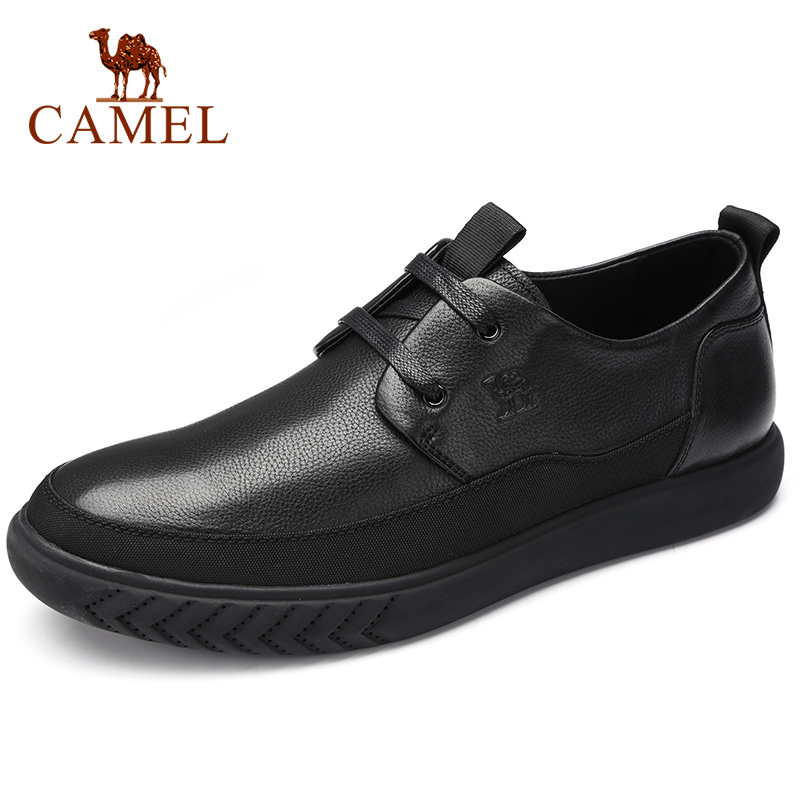 CAMEL Men's Shoes Autumn Comfortable Business Casual Genuine Leather Shoes Men Soft Cowhide Lightweight Loafers With Lacing