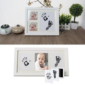 Cute Safe Non-toxic Baby Inkless Handprint Footprint Kit Hand and Foot Prints for 0-6 months Newborn Gift Decoration