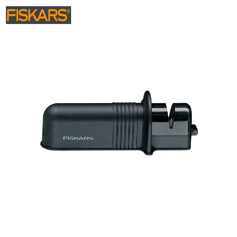 Sharpener for axes and knives Fiskars Solid (1026797) Garden tools Ceramic grinding wheels optimal sharpening angle