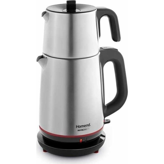 Homend 1711 Royaltea 2000W Steel Electric Teapot | Turkish Tea | Tea Machine | Water Heater | Teapot | Hot Tea
