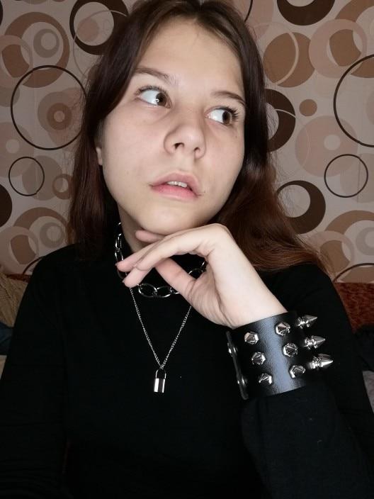 Pastel gothic E-girl Thick Massive Chain Choker photo review