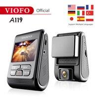 Original VIOFO A119 V2 2.0 LCD Capacitor Upgrated Novatek 96660 HD 2K 1440P Car Dash video recorder DVR Optional GPS CPL Filter