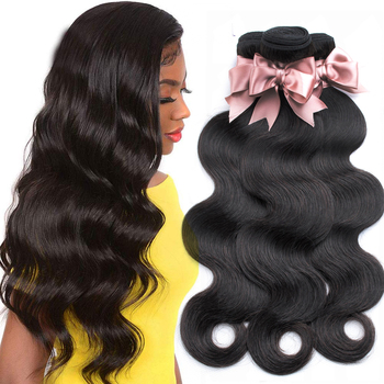 "BEAUDIVA Brazilian Body Wave Hair Extensions 8""-30"" inch 100% Human Hair Weave Bundles 1/2/3/4 Natural Color Brazilian Remy Hair"