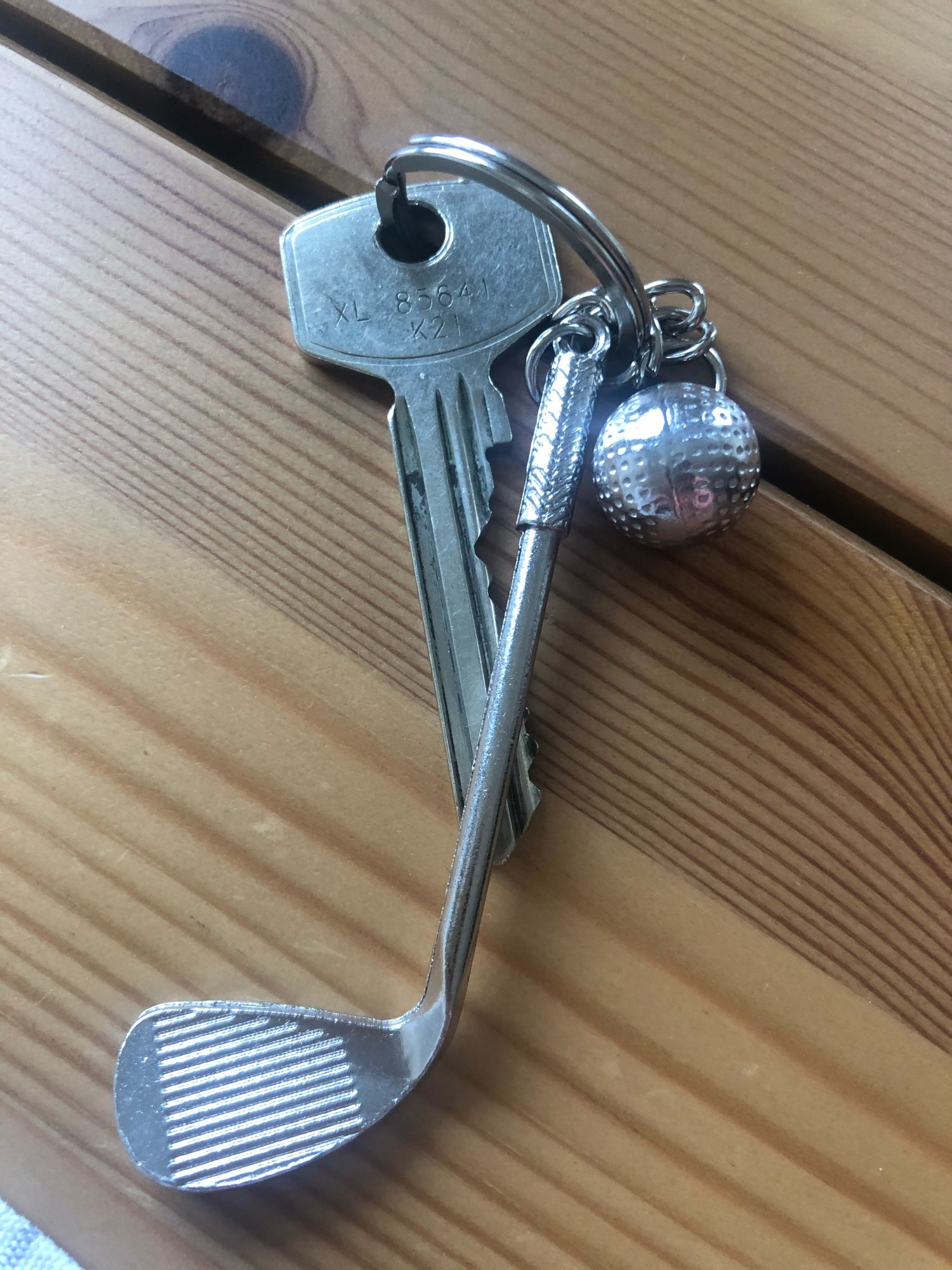 Decorative Alloy Golf Club With Ball Keyring photo review