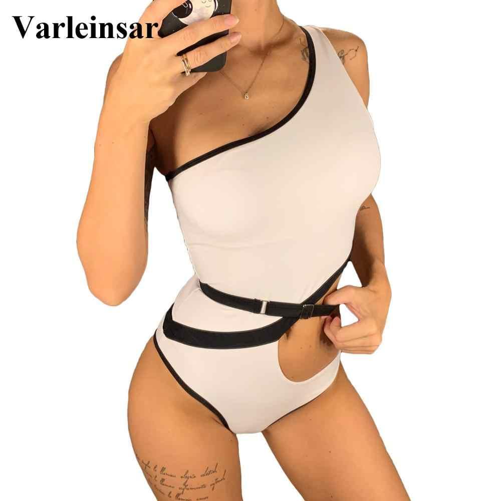 2020 Baru Seksi Satu Bahu Memotong Wanita Pakaian Renang Satu Potong Pakaian Renang Wanita Bather Baju Berenang Pemakaian Monokini v1616